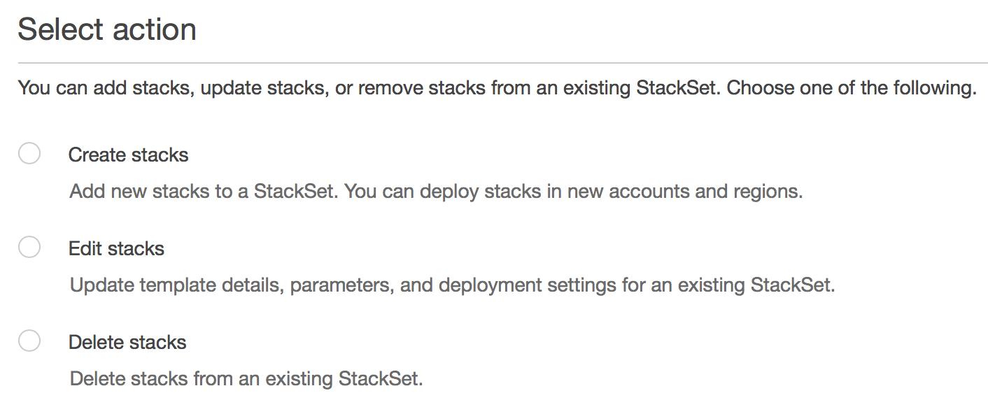 Manage CloudFormation StackSets